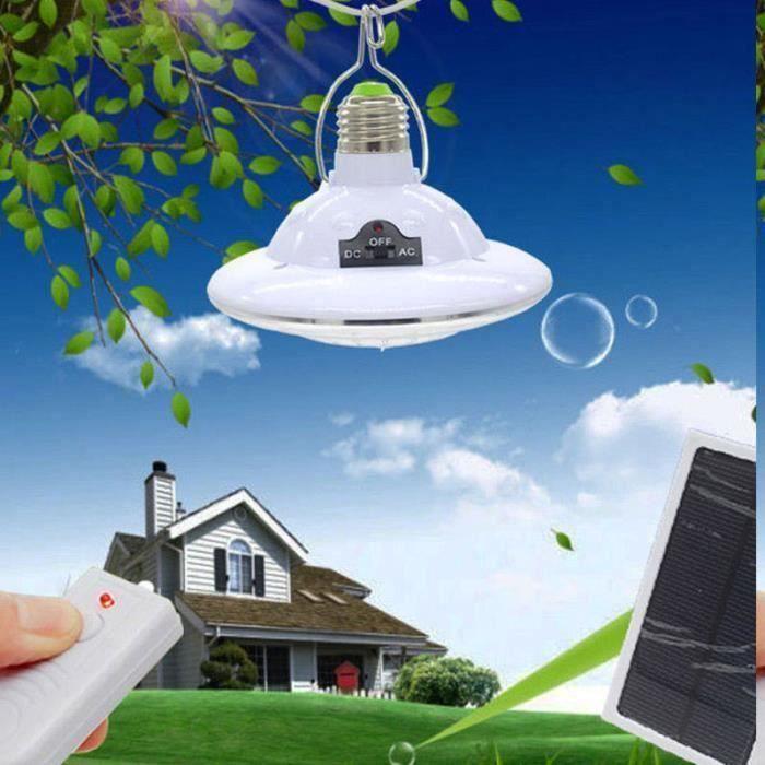 22 LED lumières solaires télécommande avec crochet jardin camp d'urgence éclairage lustre A49577