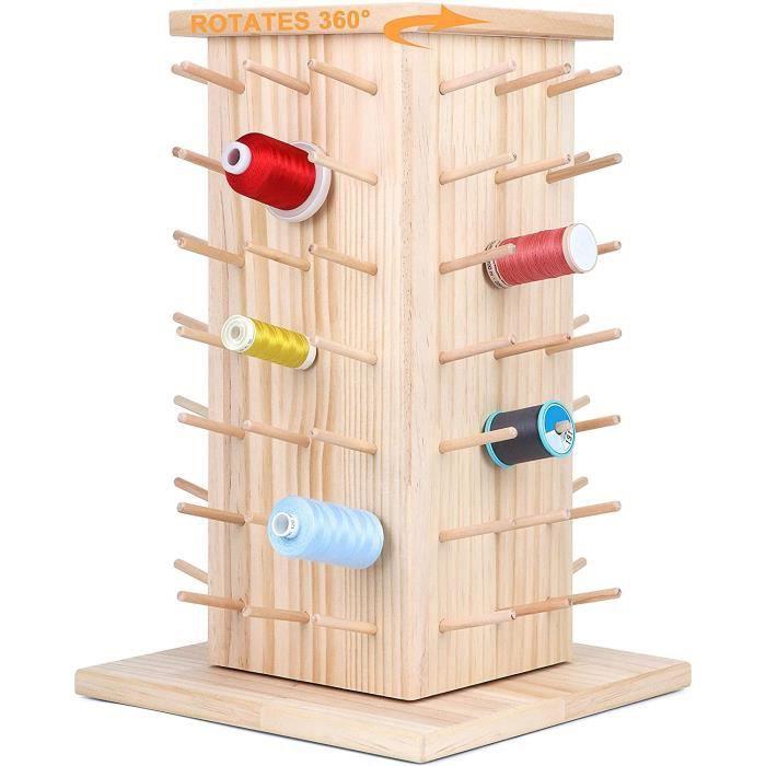 New brothread 84 Bobines 360° Rotation Support de Filetage de Bois/Porte-bobines de Fil/Organisateur de Fil pour la couture, la cour