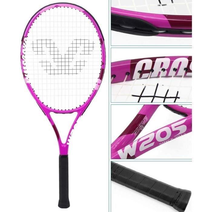 Raquette de Tennis for Adultes Enfants débutants des Hommes et des Femmes Carbon Professionnel,674