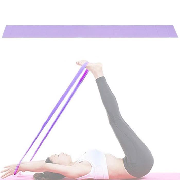 Garosa bande d'exercice de yoga TPE Fitness Bandes élastiques Ceinture de résistance Accessoire d'exercice de yoga pour les sports