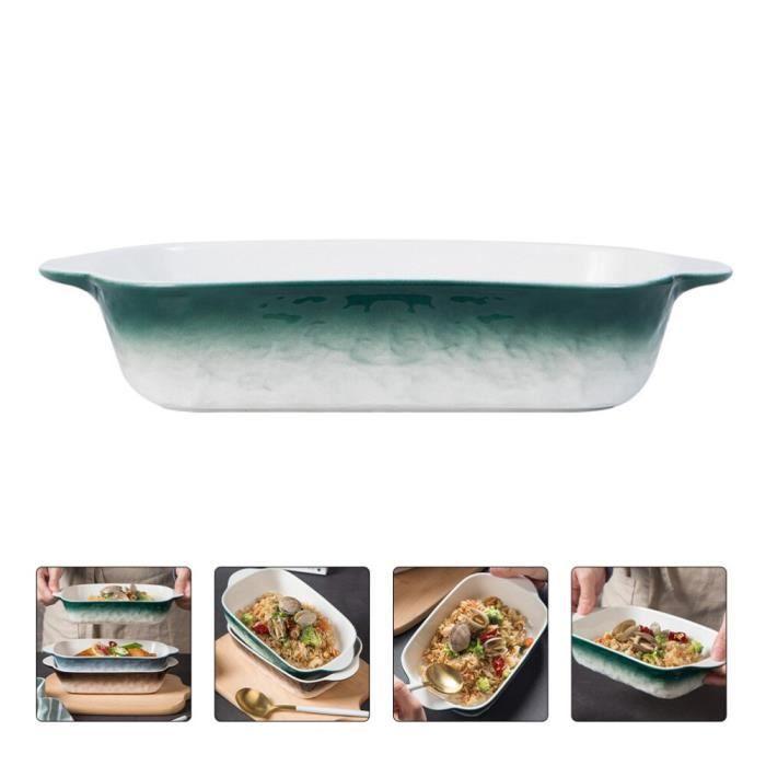 Lots de moules et plats à four,Céramique Binaural cuisson casserole fromage Pizza ustensiles de cuisine ménage micro - Type Green