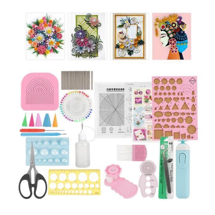 Kit d'outils de quilling, 24pcs contient de nombreux outils de papier quilling, ensemble d'artisanat de décoration d'artisanat, kit