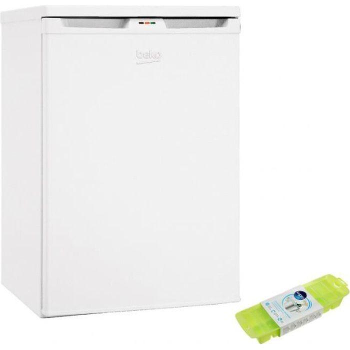 BEKO Congélateur armoire vertical blanc Froid statique 85L Autonomie 13h Top Amovible 63 Blanc