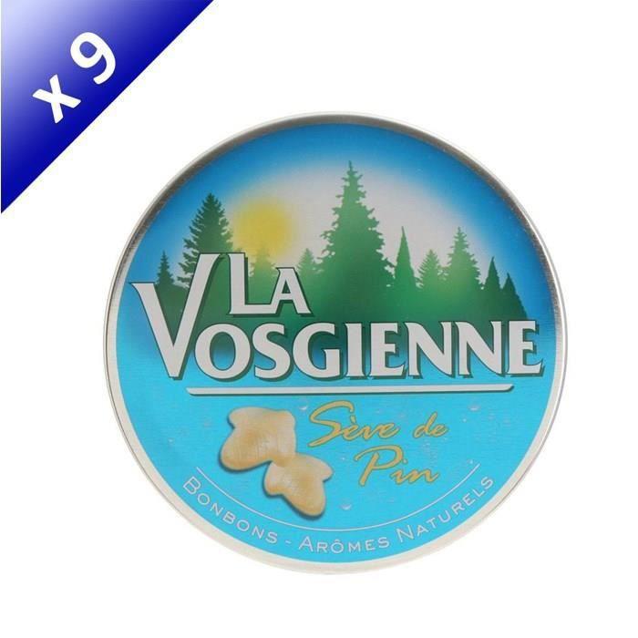 [LOT DE 9] Bonbon sève de pin 125g La Vosgienne