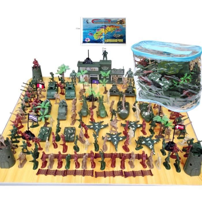 146 pièces 5cm Soldats Enfants de Plastiques Monde Guerre II Militaire Sable Table Scène Modèle