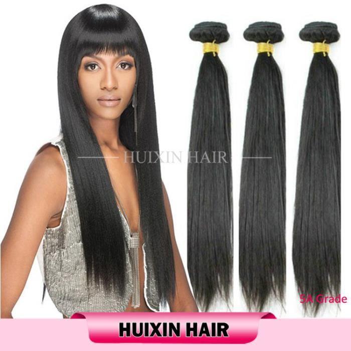 12 14 16 pouces cheveux indienne tissage straight hair naturel cheveux Livraison gratuite