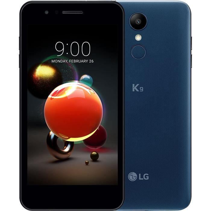 LG K9 Smartphon 5- 2GB RAM/16GB de stockage (appareil photo 8 mégapixels et 5 mégapixels en façade, batterie 2500 mAh) Bleu