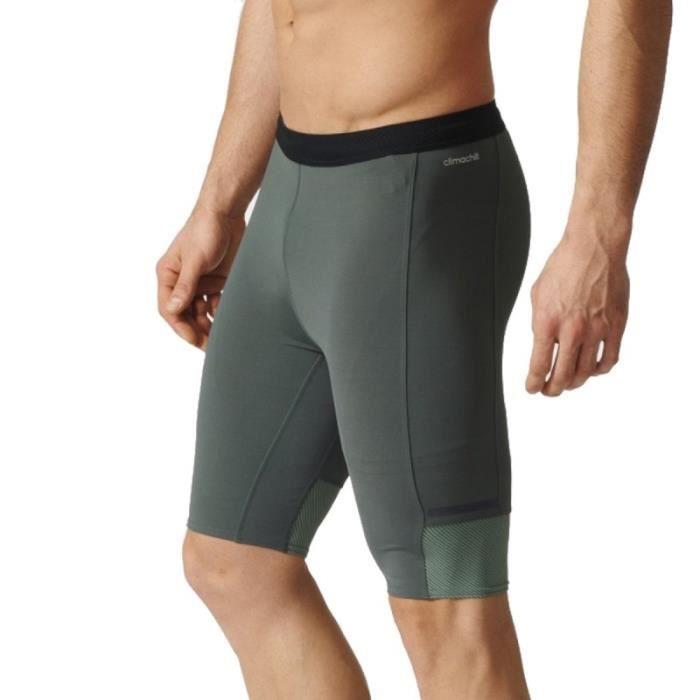 Short de Running Kaki Homme Adidas CHILL S TGT M