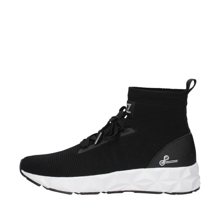 Ea7 X8Z012 chaussures de tennis haute homme NOIR