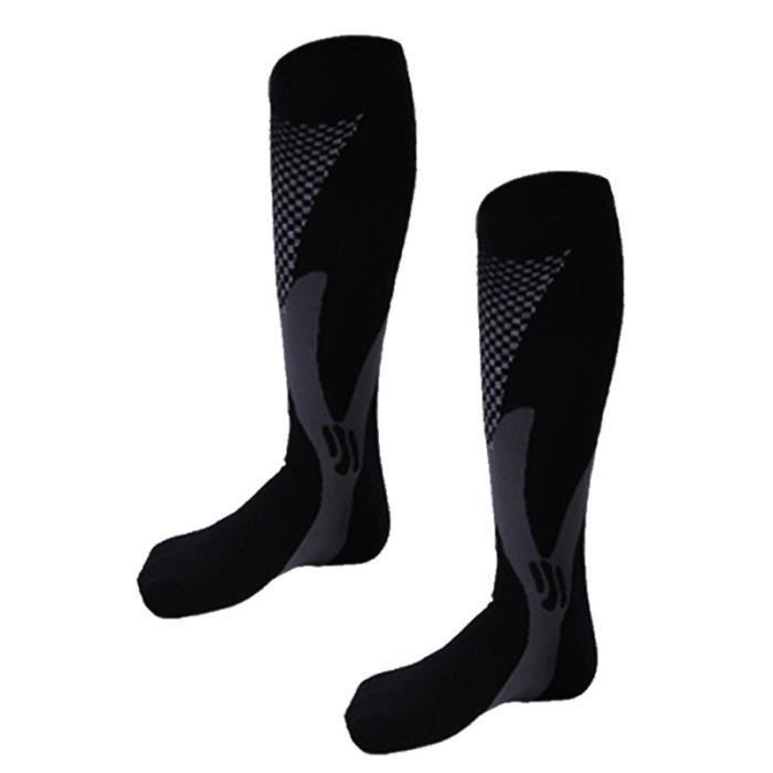 Chaussettes de compression unisexes solides respirantes confortables CHAUSSETTES DE RECUPERATION - CHAUSSETTES DE COMPRESSION