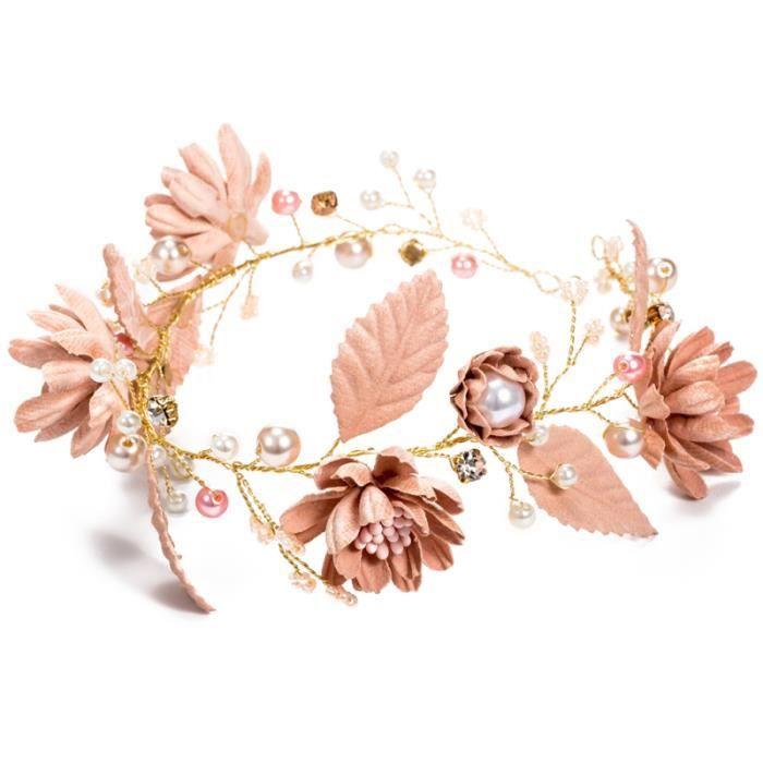 Fleur filles couronne enfants cristal floral perles bandeau guirlande bandeaux pour BANDEAU - SERRE-TETE - HEADBAND - HAIRBAND