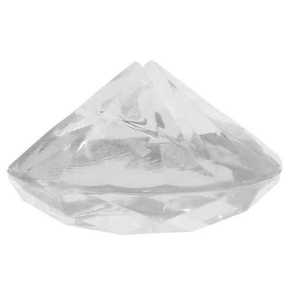 4 MARQUE-PLACES DIAMANT TRANSPARENT Transparent