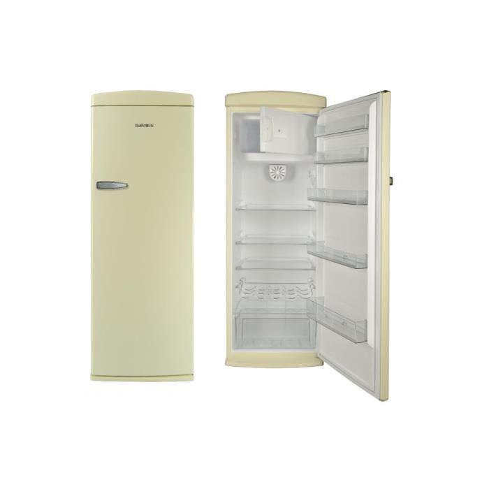 TELEFUNKEN TFNVIN311CRM Réfrigérateur 1 porte CREME