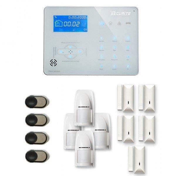 Alarme maison sans fil ICE-B 4 à 5 pièces mouvement + intrusion - Compatible Box