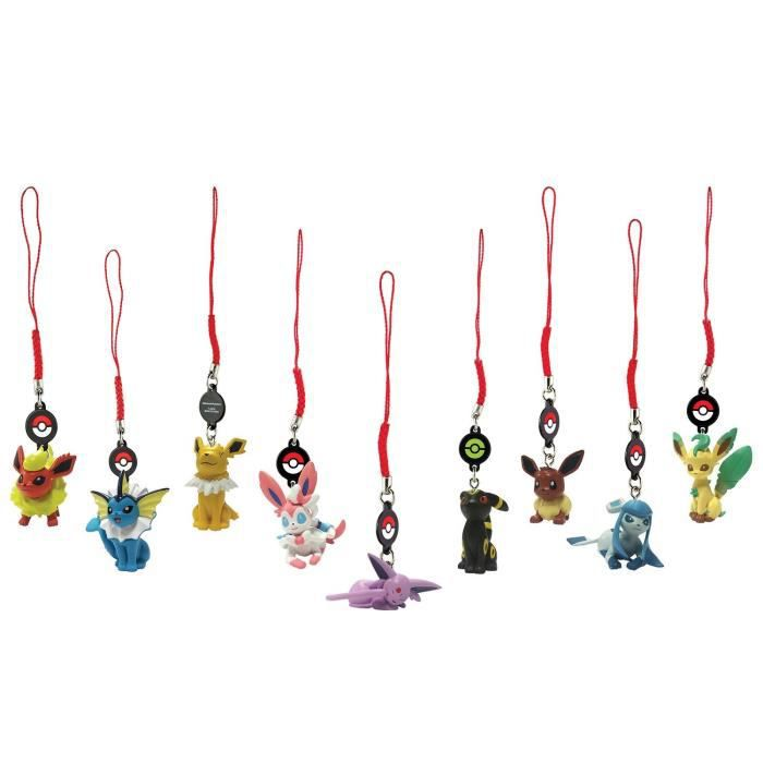 POKEMON 3 Mini Figurines Evoli et ses évolutions