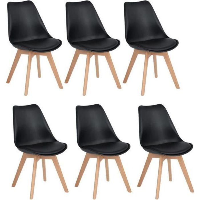 CHAISE DE BUREAU HJ Lot de 6 Chaises design contemporain nordique s