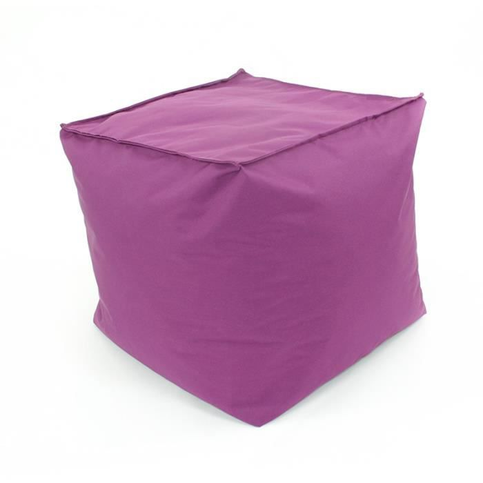 pouf cube int rieur ext rieur 40x40x40cm violet achat. Black Bedroom Furniture Sets. Home Design Ideas