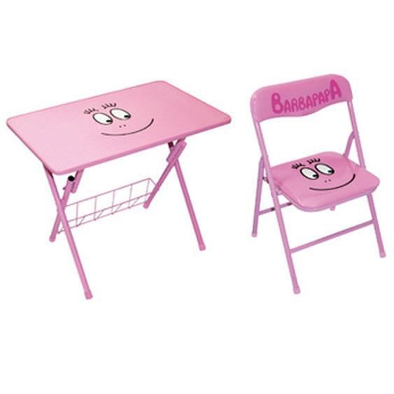 table d 39 activite et chaise barbapapa achat vente table. Black Bedroom Furniture Sets. Home Design Ideas