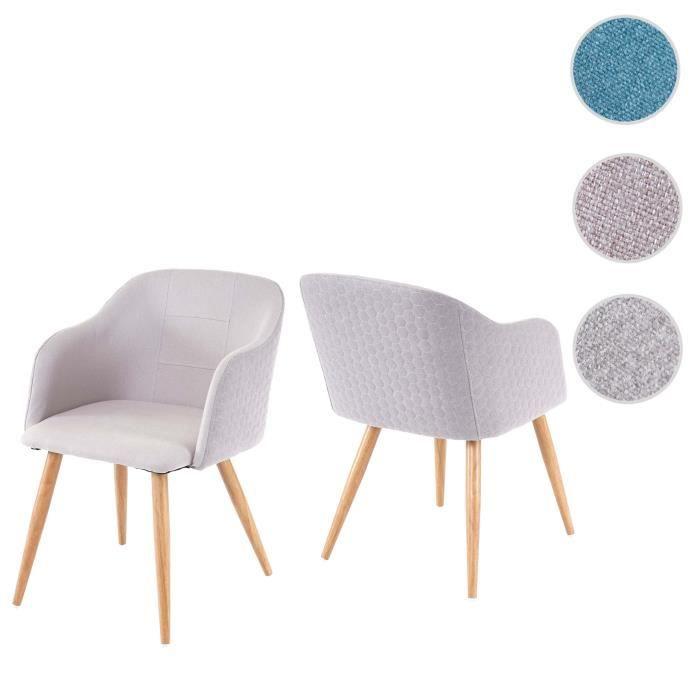 chaise de à manger séjoursalle 2x HWC D71fauteuildesign D9IYW2EH