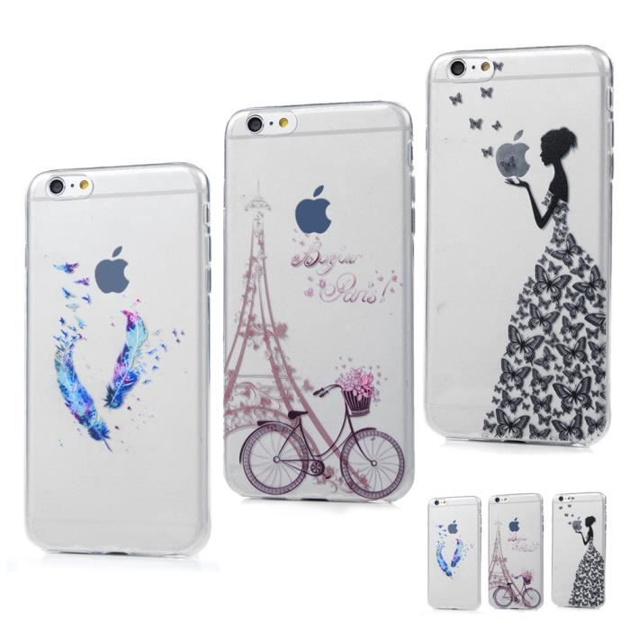 coque iphone 6 motif transparent