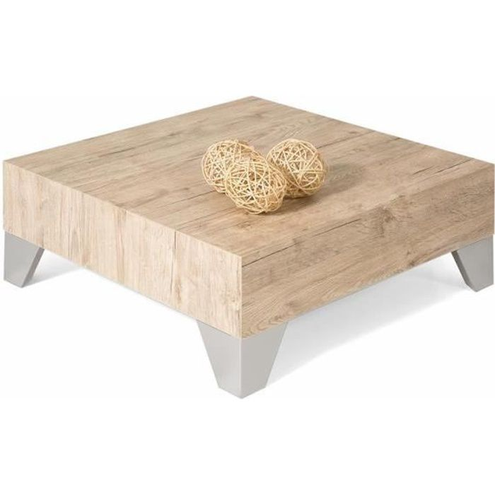 Table Basse Ch Ne Naturel Evolution 60 Achat Vente