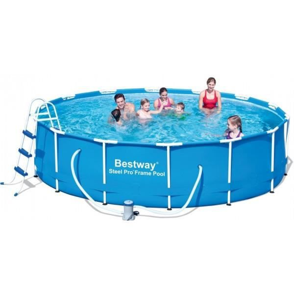 Piscine tubulaire ronde 427 x 100 cm achat vente for Achat piscine tubulaire rectangulaire