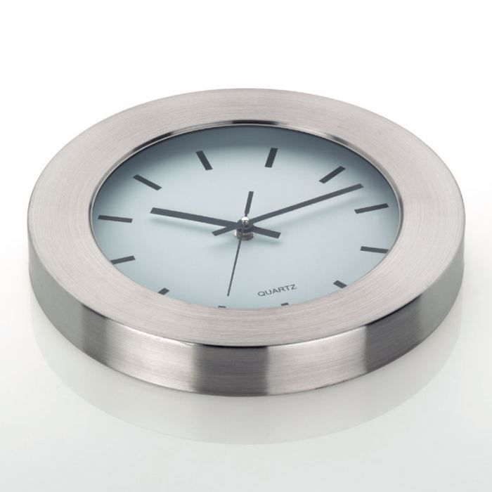 Horloge murale new york inox 30cm kela achat vente for Decoration murale geante new york