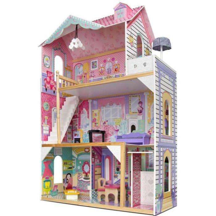 Maison de poupées blanc chambre cheminée maison de poupées
