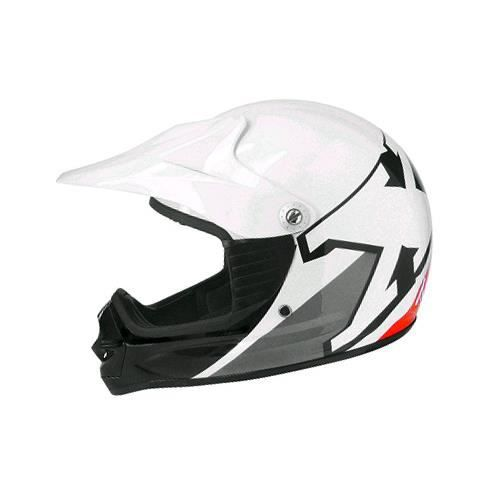 casque moto cross enfant tnt x2 blanc rouge achat vente casque moto scooter casque moto. Black Bedroom Furniture Sets. Home Design Ideas