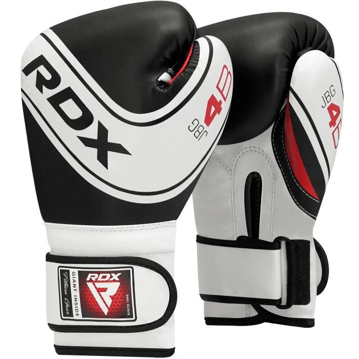 Gants de boxe pour enfants juniors de boxe Gants de MMA Gants de Sparring en cuir synth/étique 4Oz rouge