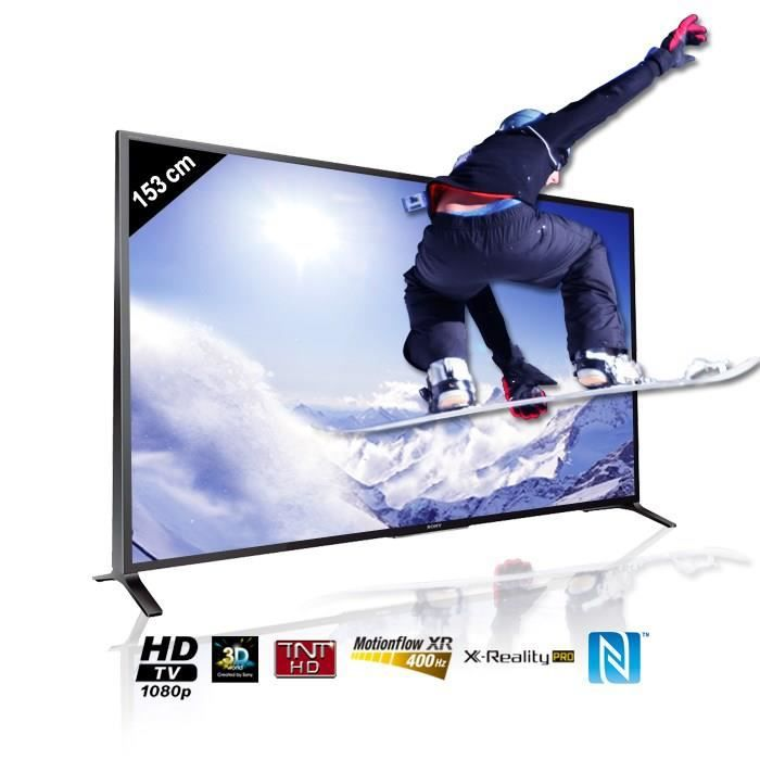 sony bravia kdl60w855b tv connect 3d 153 cm t l viseur led avis et prix pas cher cdiscount. Black Bedroom Furniture Sets. Home Design Ideas