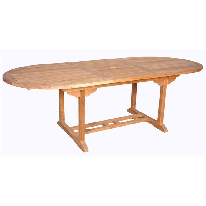 Table de jardin en teck corfou 100 achat vente table for Tables de jardin en teck
