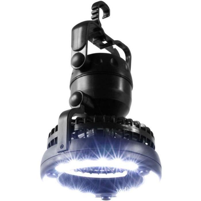 18 DEL Camping Lanterne Ventilateur de Plafond Crochet éclairage Lumière Nuit Lumineux Lampe