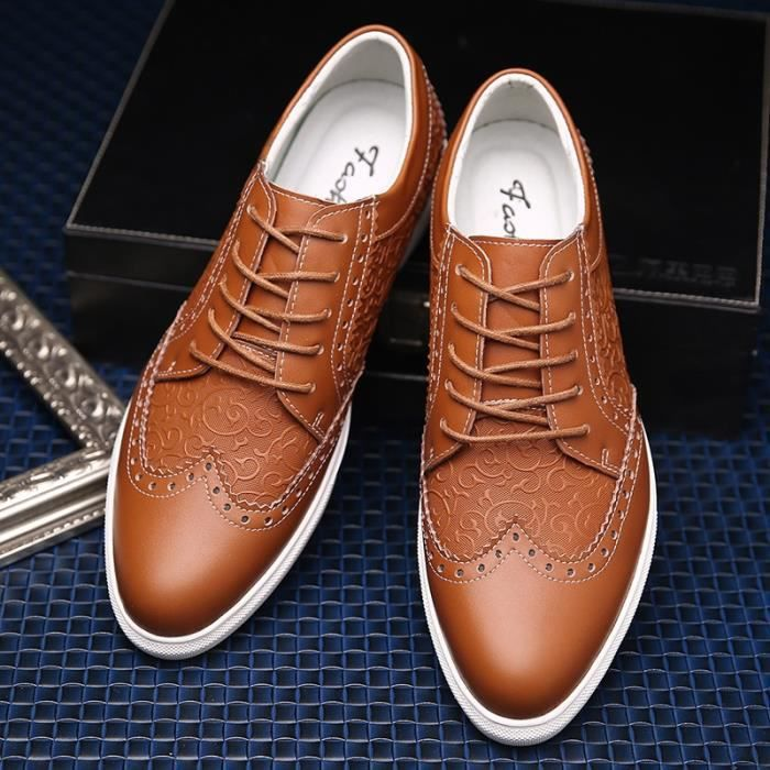 Mode Hommes Mocassins en cuir Casual,marron,42,30_30