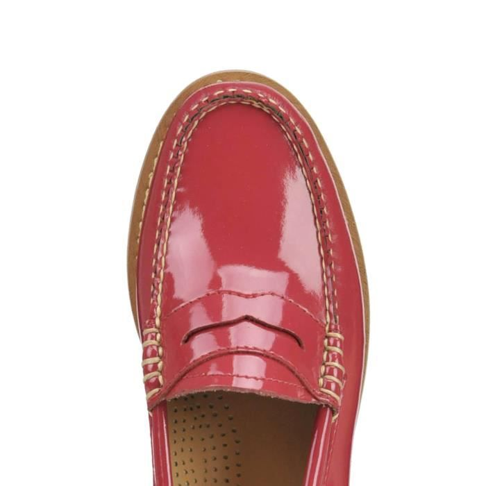 WEEJUNS MOCASSINS MCGLCAB03057E FEMME VERNIS ROUGE CUIR OPHY6cpP