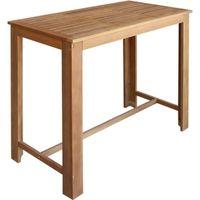 Table de bar en bois d'acacia massif, vidaXL,120 x 60 x 105 cm