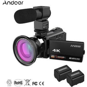 CAMÉSCOPE NUMÉRIQUE Andoer 4K 1080P 48MP WiFi Caméra Vidéo Numérique E
