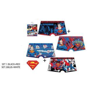 BOXER - SHORTY Lot de 2 Boxers Enfant SUPERMAN Couleurs Assorties
