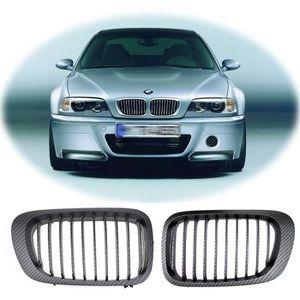 Front Kidney Grille N//S GAUCHE NOIR /& CHROME BMW 3 E46 2001-2005 4//5 portes NEUF