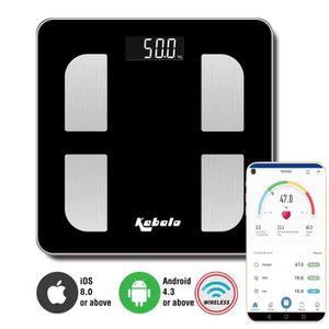 PÈSE-PERSONNE Kabalo Bluetooth Noir Capacité 180 kg Balance de g