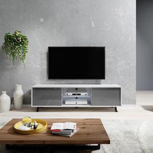 MEUBLE TV Meuble tv / Meuble de salon - LUNA - 140 cm - blan