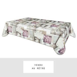 toile cir e au m tre largeur 140 cm ydra taupe achat vente nappe de table soldes d. Black Bedroom Furniture Sets. Home Design Ideas