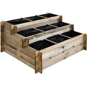 CARRÉ POTAGER - TABLE Carré potager en bois à étages - Grand modèle