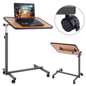 SUPPORT PC ET TABLETTE Table de Lit à Roulette Support Ordinateur Tablett