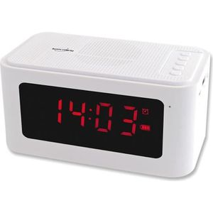 Radio réveil INOVALLEY RV17BTHW Radio Réveil Bluetooth - Blanc