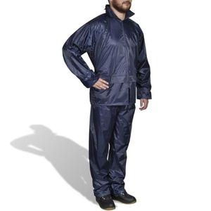 Moto Imperméable Imperméable Unisexe Combinaison de pluie avec capuche coupe-vent Neuf