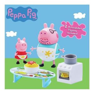 UNIVERS MINIATURE PEPPA PIG Messy Kitchen, it's a cooking day with P