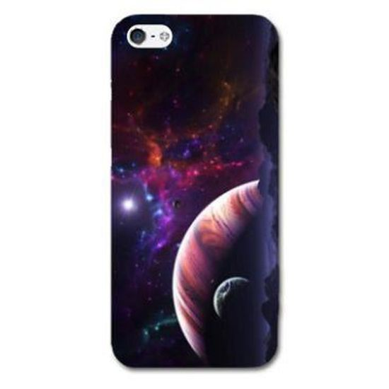 Coque iphone 5 / 5S Espace Univers Galaxie - - Planete rouge -