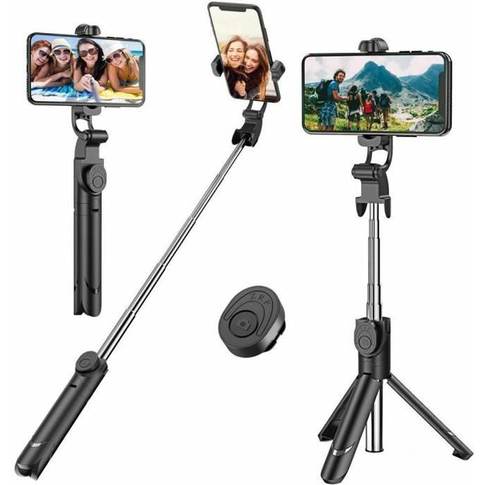 Perche Selfie Trépied avec Télécommande pour iPhone , Samsung Galaxy, Android Smartphones