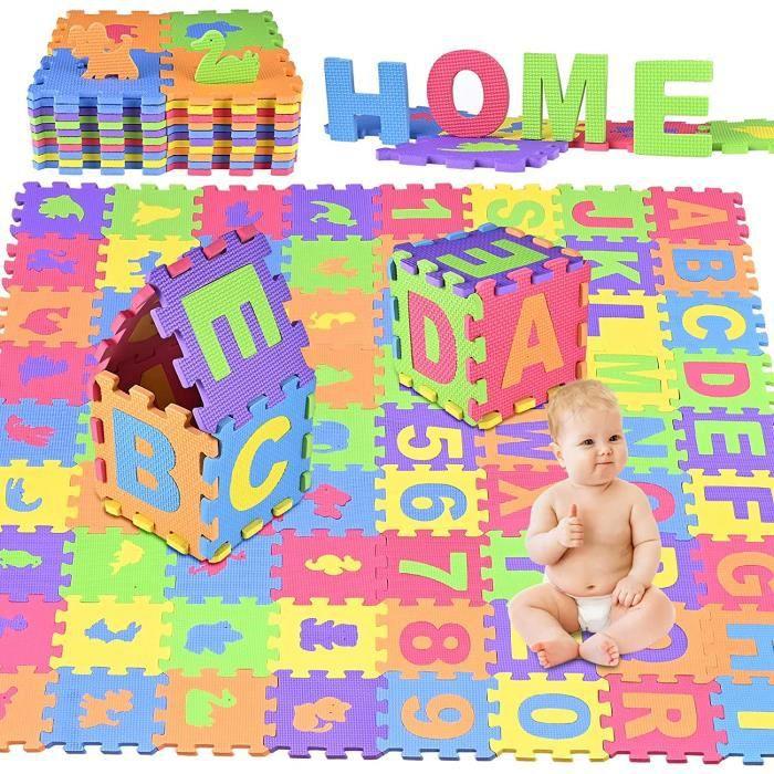 SAFE Puzzle tapis mousse bébé alphabet et chiffres 36 dalles 16x16 cm enfant bas âge